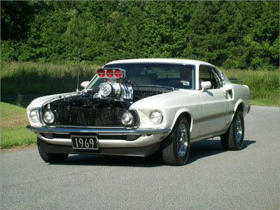Blown 70 Ford Mustang with 6-71 Blower